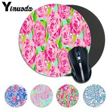 Yinuoda  lilly pulitzer Rubber PC Computer Gaming mousepad Size for 20*20cm 22*22cm round mousepad Rubber Rectangle Mousemats
