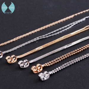 DIY earrings copper chain Hook chain contracted fine chain tassel earring hang homemade jewelry materials(China)