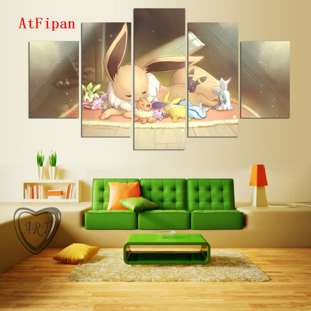 AtFipan Painting Canvas Printing Lovely Pocket Monster Cartoon ...