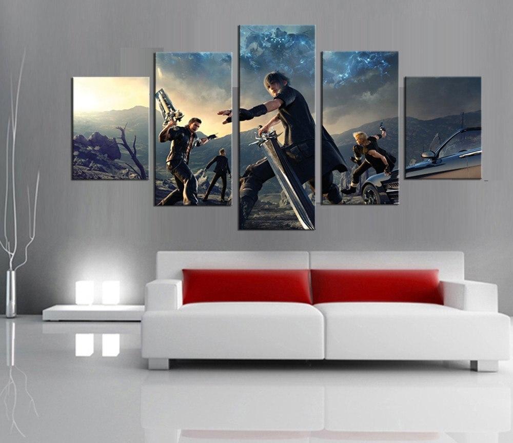 Painting Canvas Printed Poster Modern 5 Panel Final Fantasy Xv Rhaliexpress: Final Fantasy Home Decor At Home Improvement Advice