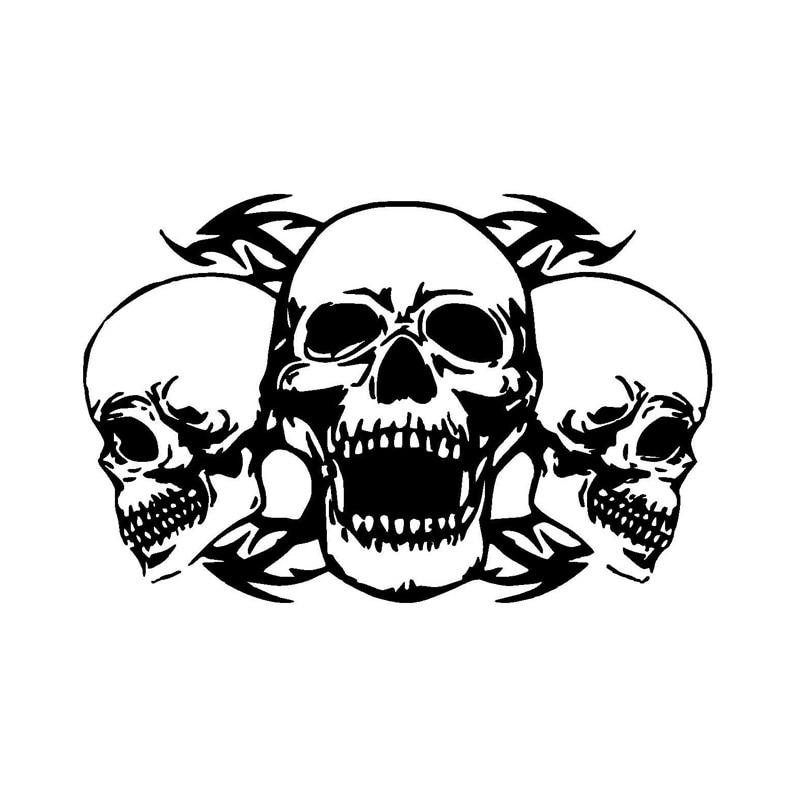 Online Get Cheap Custom Skull Decals Aliexpresscom Alibaba Group - Skull decals for motorcycles