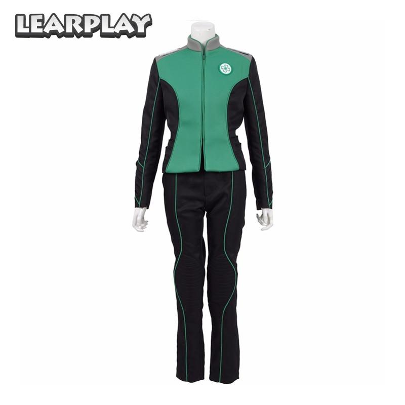 The Orville Medical Department Claire Finn Uniform Cosplay Costumes 2017 Starfleet Green Officer Suits Halloween Duty