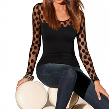Ladies Cloth Shirt Fashion Sexy Tops For Women All Game Womens Hollow Sleeves Lace Tshirts S Long