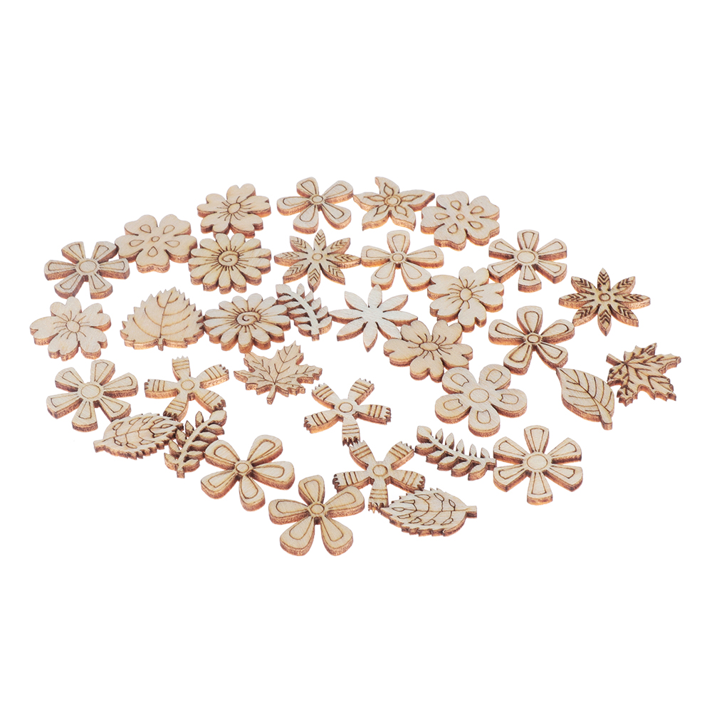 Baby Toys Scrapbooking Natural Wood Plant//Flower//grass Ornament Embellishment
