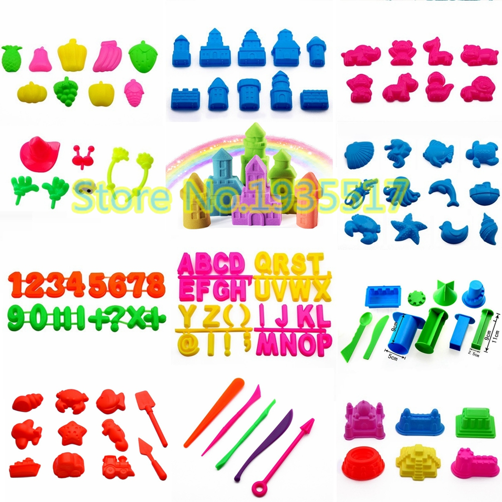Building Castle Mold Tools Sand Toy Building Kits Play Dough Plasticine Slime Playdough Polymer Clay Beach Model Toy for Kids ...