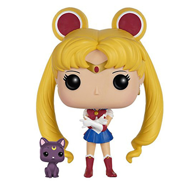 Funko pop Sailor Moon & Luna pvc action Figure Collectible Model Toy kids gift 1