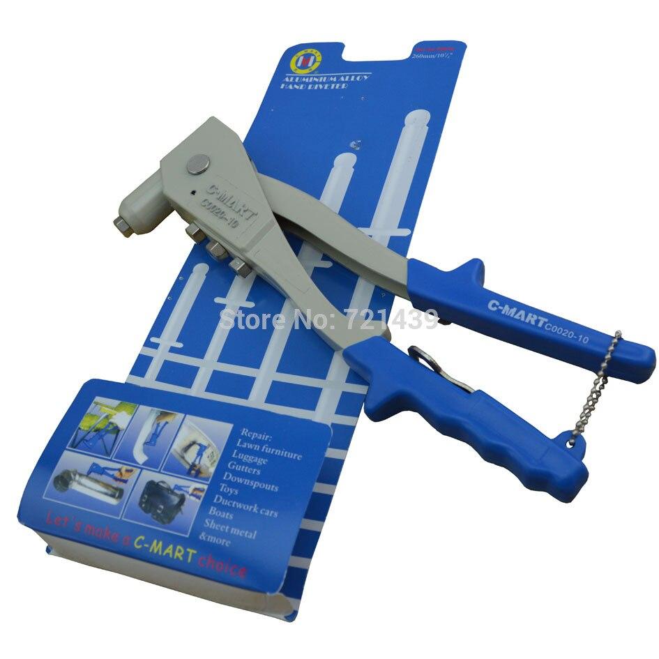 C-mart Hand Tool Alluminium Alloy Hand Riveter Nail Hitter Rivet Gun Rivet Device C0020-10