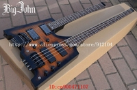 free shipping double neck headless electric bass and guitar with rosewood fingerboard +foam box JT-36