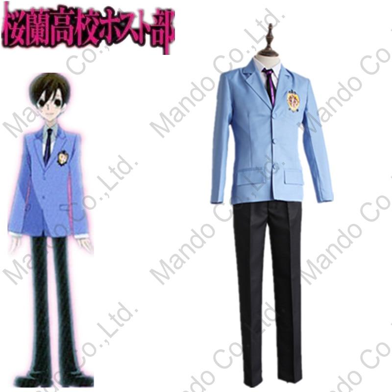Anime Ouran High School Host Club Haruhi Fujioka Cosplay para hombre - Disfraces