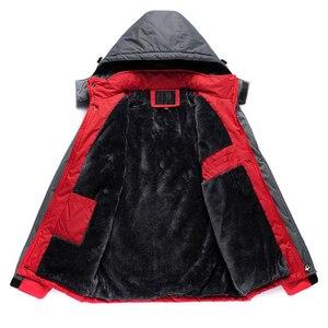 Image 1 - Jacket Men Winter Thick Fleece Waterproof Outwear Military Jackets Plus size 5XL Mens Windbreaker Army Parka Raincoat  Coats