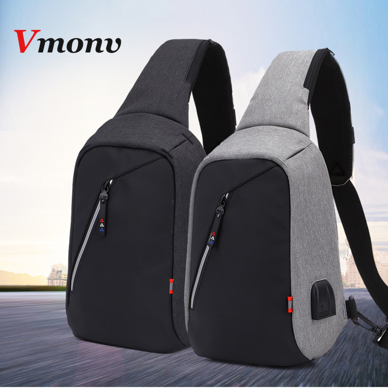 Vmonv USB Rechargeable Laptop Backpack for IPAD Mini Air Pro 9.7 Inch Anti Theft Crossbody Single Shoulder Bag for Macbook 11 12Vmonv USB Rechargeable Laptop Backpack for IPAD Mini Air Pro 9.7 Inch Anti Theft Crossbody Single Shoulder Bag for Macbook 11 12