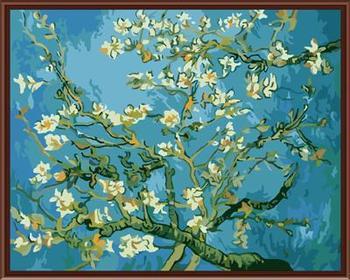 ציור ללא מסגרת תמונה על ידי DIY מספרים בד ציור שמן ואן גוך תמונת בית תפאורה אמנות קיר סלון 40*50 ס