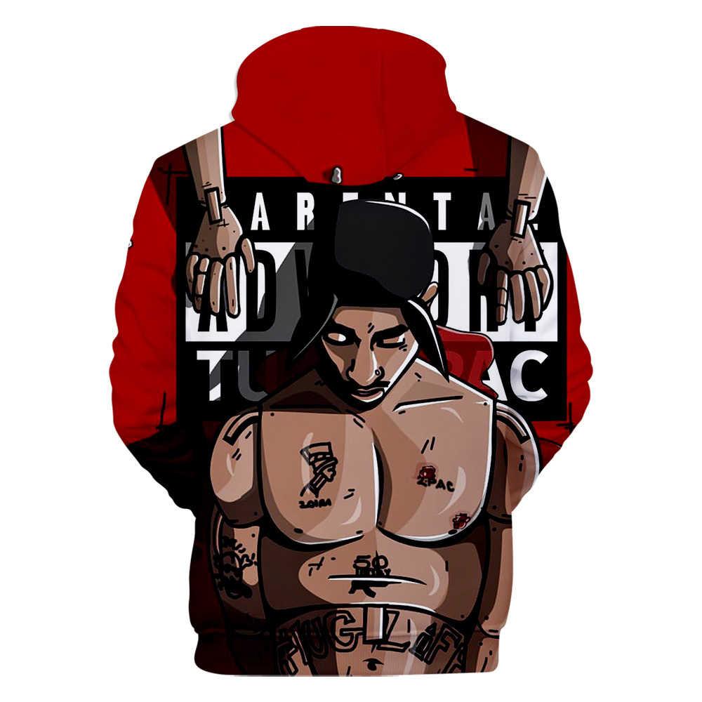 ¡R.I.P! Rapero americano 2Pac Tupac Amaru Shakur 3D estampado Sudadera con capucha hombres/mujeres Casual Hip hop Harajuku ropa con capucha