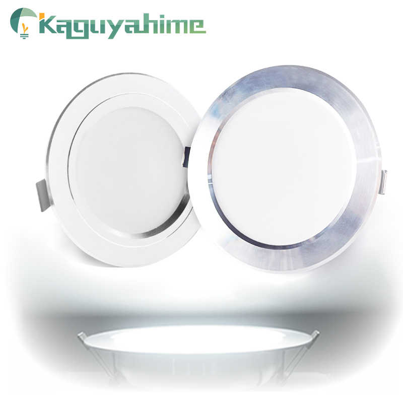 Kaguyahime LED זרקור Downlight 220V 110V אלומיניום 3 W 3W 5W 9W 15W 18W Ultra דק עגול שקוע LED ספוט אור לסלון