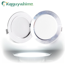 Kaguyahime LED Spotlight Downlight 220V 110V Aluminum 3W 5W 9W 15W 18W Ultra Thin Round Recessed Spot Light For Living Room