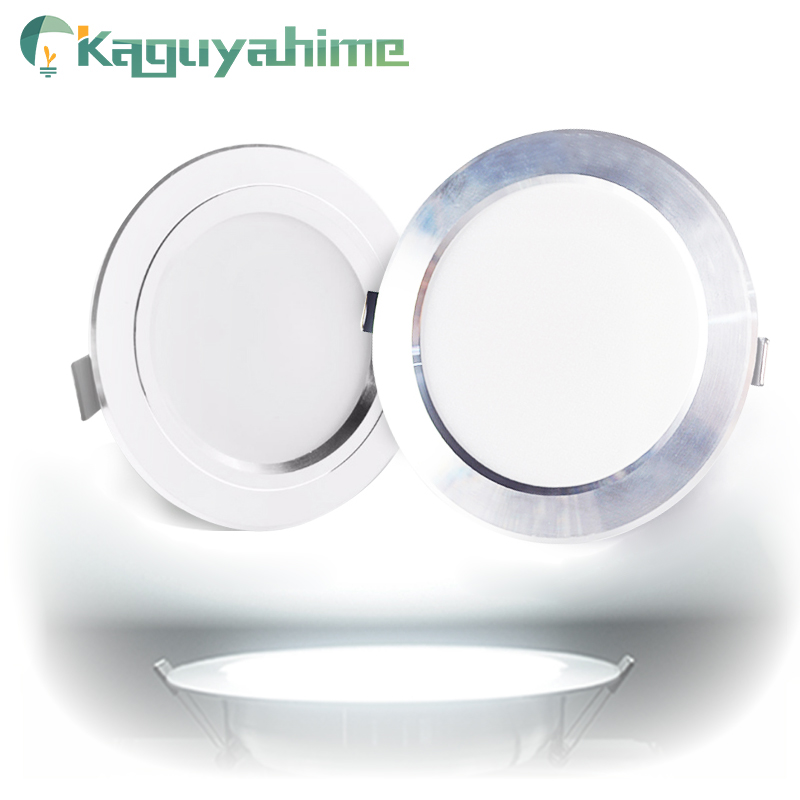 Kaguyahime LED proyector Downlight 220V 110V aluminio 3W 5W 9W 15W 18W Ultra delgado redonda empotrada llevó la luz del punto para la habitación