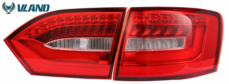 цены  Free shipping Vland factory Car taillight for VW Jetta Sagitar Tail Lights 2011 2012 2013 2014 Jetta MK6 LED Rear Lamp