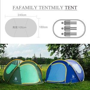 Image 4 - Werfen zelt im freien automatische zelte werfen pop up wasserdichte camping wandern zelt wasserdicht familie zelte Geschwindigkeit offene Familie