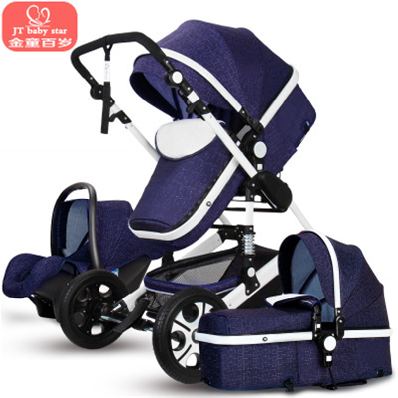 New arrival 3 in 1 baby stroller with Car Seat For Newborn High View Pram Baby