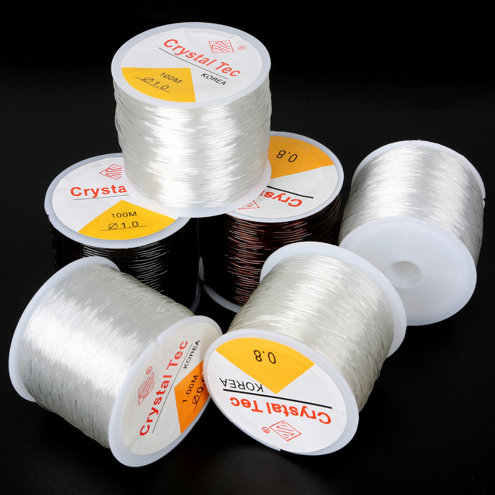0 5 0 6 0 8 1 0mm Transparent Non Stretch Fishing Line Wire Nylon String Beading Cord Thread Findings DIY Jewelry Accesories in Jewelry Findings Components from Jewelry Accessories