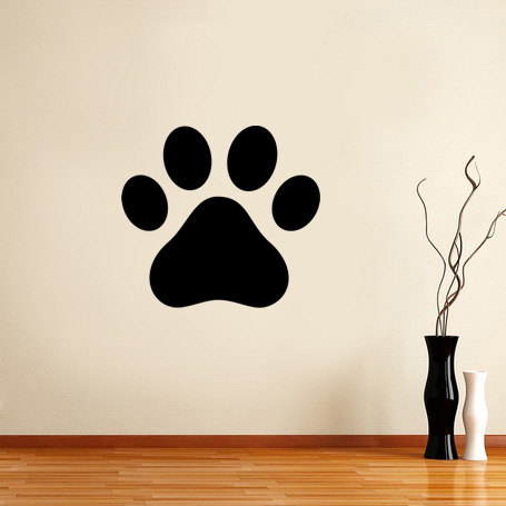 Cute Dog Paw Pattern Wall Decal Vinyl Removable Animal Pets Rooms
