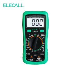 ELECALL 3 1 2 Multimeter EM33D AC DC 600V Green Protective Cover Backlight Data Hold Battery