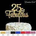 25 и сказочный Топпер для торта, блестящие украшения на 25 дней рождения, вечерние товары для украшения торта