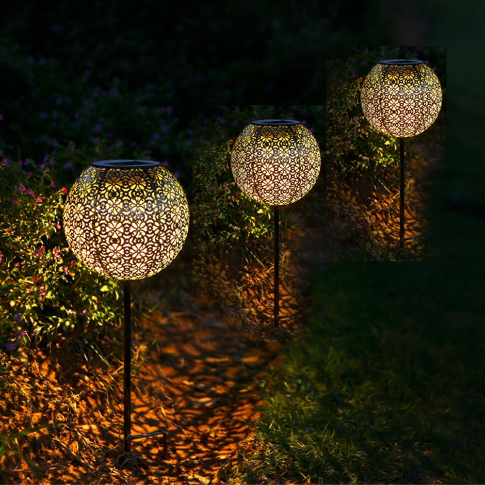 Solar Garden Light Led Solar Light Globe Stake Lawn Lamp Waterproof Outdoor Light For Walkway Lawn Courtyard Path LED Solar Lamp