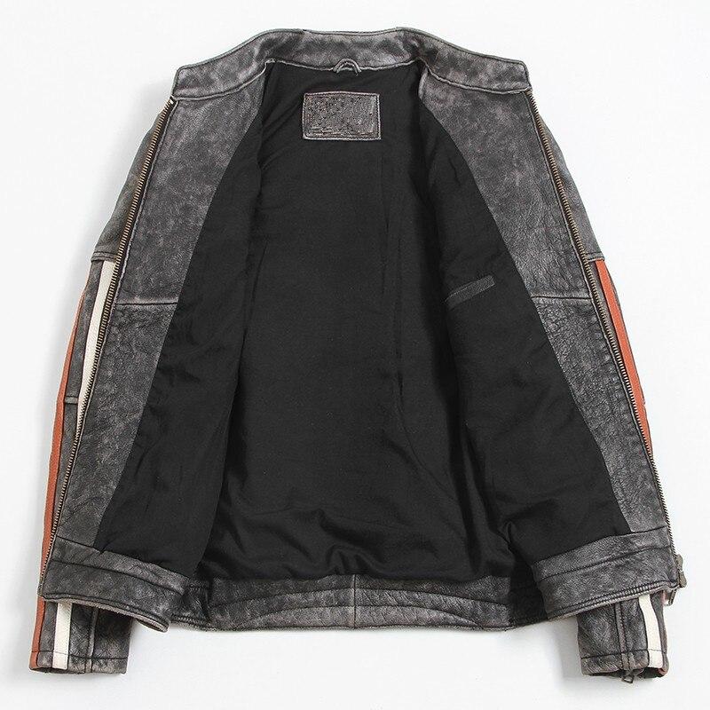 HTB1FjoXaL6H8KJjy0Fjq6yXepXag 2019 Vintage Black Men Leather Motorcyclist Jacket Skull Embroidery Plus Size 3XL Genuine Cowhide Short Biker Coat FREE SHIPPING