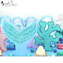 قطعة مركزية لتزيين طاولات حفلات حورية البحر للأطفال لتزيين حفلات أعياد الميلاد