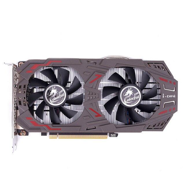 Красочные GeForce gtx1060 Графика карты 6gd5 1506-1708 мГц pci-e x16 (3.0) 2 * DVI + HDMI + DP видео карты 2 Вентиляторы gtx1060-6gd5 игровой V5