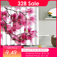 aa28e6d090 Flower Waterproof Shower Curtain Waterproof Polyester Fabric Bath Bathing  Bathroom Curtains with 12 Hooks for Home