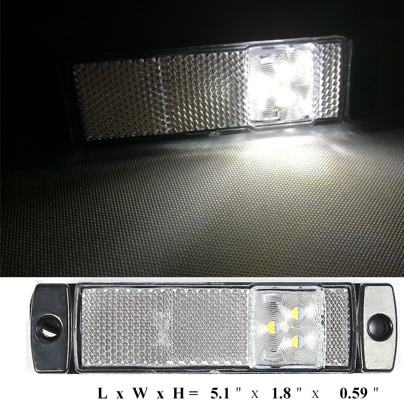 Image 5 - car accessory 2 PCS 12 V 24V LED trailer light led tail light marker  white side marker  indicator position  truck RV Camp lamp-in Truck Light System from Automobiles & Motorcycles