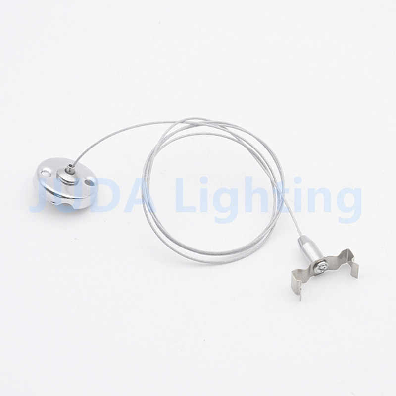T5 T8 bracket with steel wire T5 fluorescent tube bracket steel cable rope lamp base for led office ceiling lamp fittings