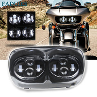 FADUIES Motorcycle Dual LED headlight For Harley Road Glide Daymaker Projector LED Headlamp 2004 2013