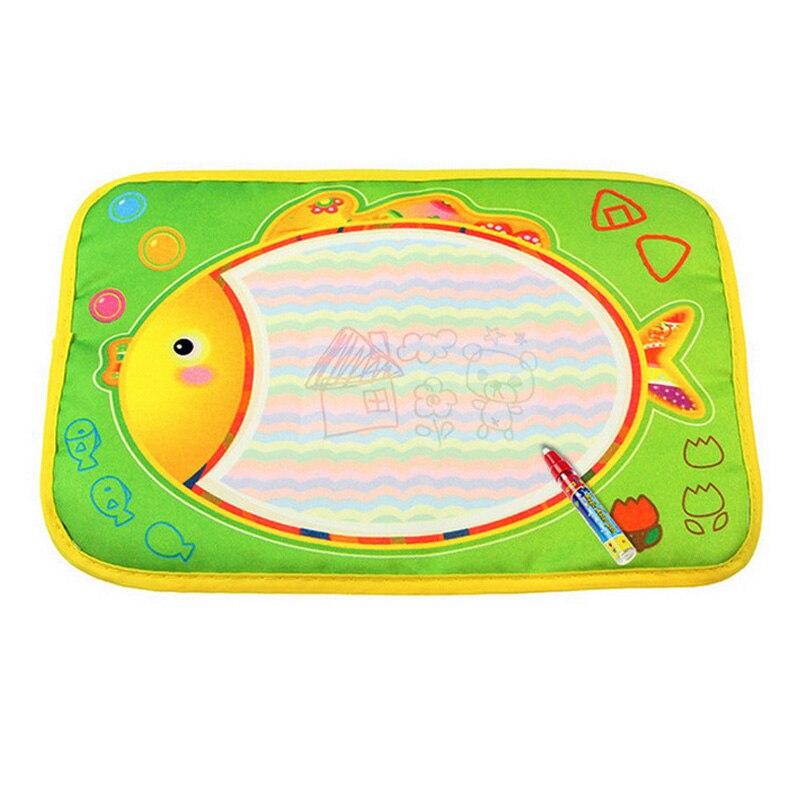 Детские Каракули картина Вода Рисование Играть Мат Рисунок Игрушки Совет подарок с Волшебное перо @ ZJF