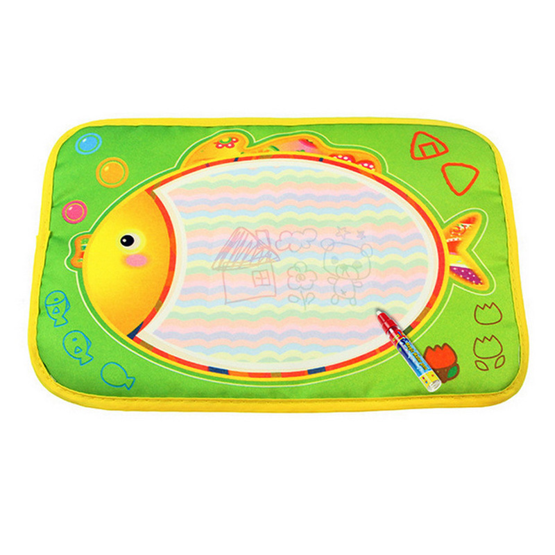 Baby Kids Doodle Painting Picture Water Drawing Play Mat Drawing Toys Board Gift with Magic Pen @ZJF
