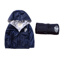 29KEIZ Boys Autumn Jackets Solid Color Hooded Boys Baby Outwear Windproof Boys Sports Clothing 2 3