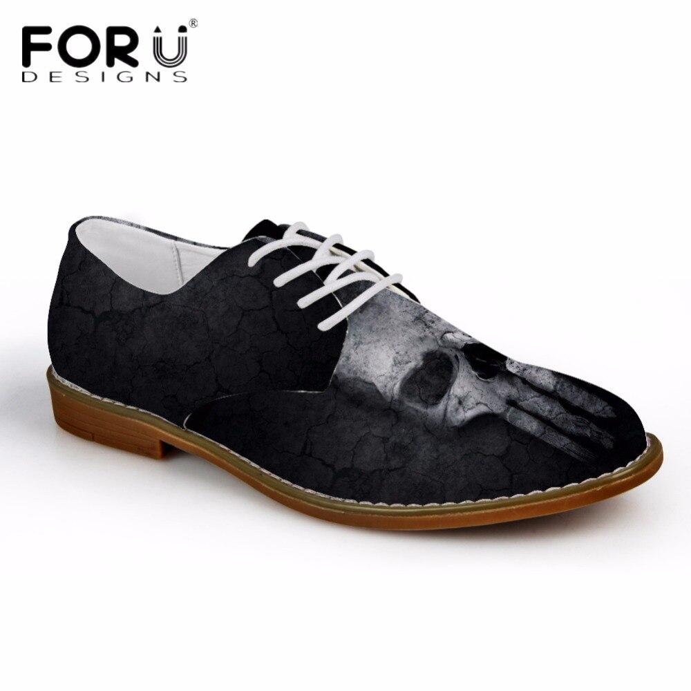 h110ce cc1818ce cc1818ce Noir Motif Oxfords Chaussures Pour cc2170ce D'affaires Cool Forudesigns Mode Cuir Homme cc1817ce 4475ce Synthétique Hommes cc1918ce Crâne En De Richelieus Casual qgAp7R