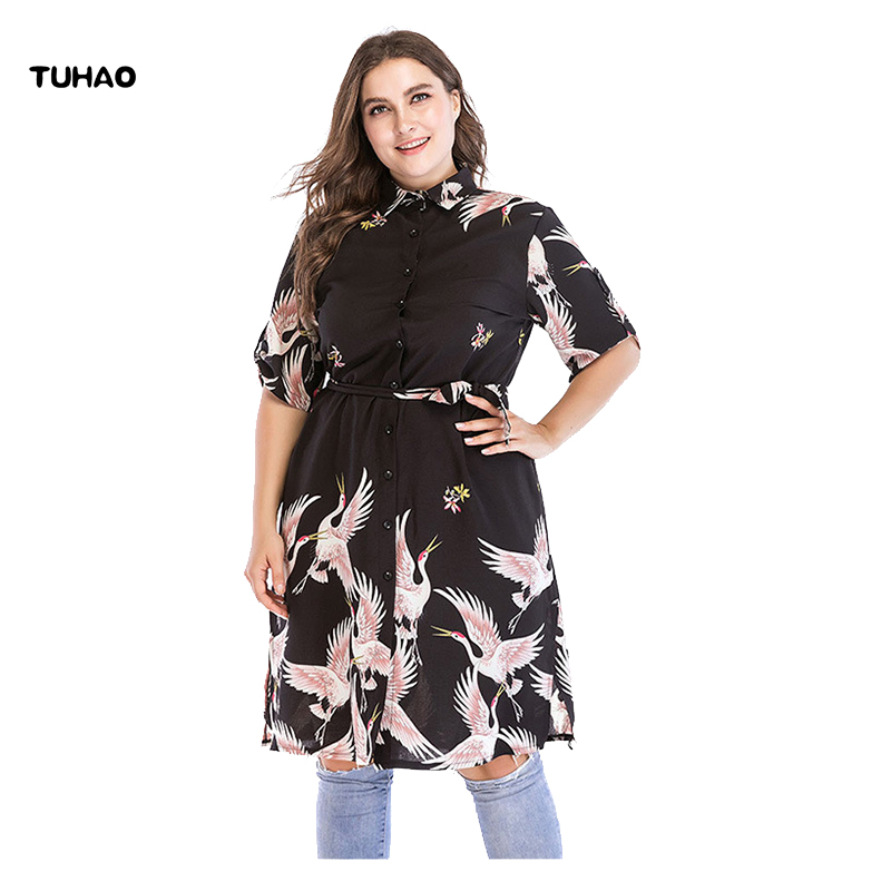 TUHAO 2018 Summer   blouses   for woman plus size 6XL 5XL 4XL Female Work   Blouses     shirts   Women vintage office lady long   Blouse   CM52