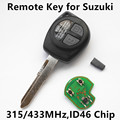 2 Buttons Remote Key 315MHz 433MHz for SUZUKI SWIFT IGNIS Jimny Vitara XL7 SX4 ALTO Aerio Car Keyless Entry T002 T004