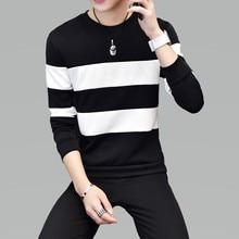 Hot Sale Mens Sweatshirts Fashion Casual Off White Sweatshirt Slim Youth Striped Long Sleeve Harajuku Men Plus Size M-5XL New