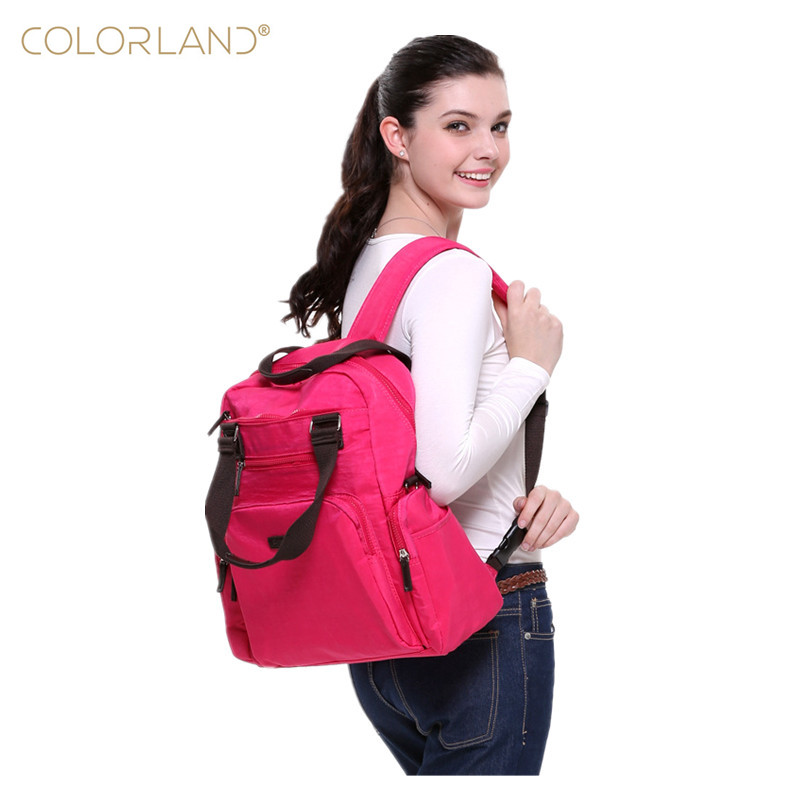 COLORLAND Diaper Bags Backpack Large Capacity Multifunctional Mummy Nappy Bag Baby Mommy Maternity Bag Babies Care Product стоимость