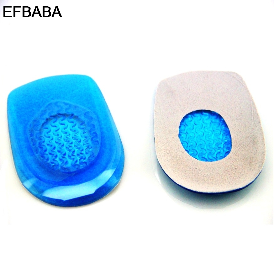 EFBABA Silicone Insole Heel Pads Gel Cushions Damping Sports Insoles Men Women Shoes Inserts Accessories Heel Spur Pain Relief