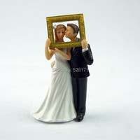 Free Shipping Beach Kissing Resin Couple Figures Funny Wedding Cake Toppers