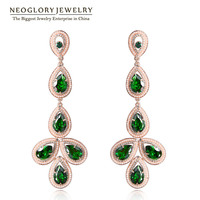 Neoglory MADE WITH SWAROVSKI ELEMENTS Rhinestone Drop Earrings Jewelry Accessories For Female 2014 Spring New Arrival