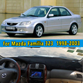Dashmats-car styling acessórios do carro tampa do painel para Mazda Familia 323 1998 1999 2000 2001 2002 20003