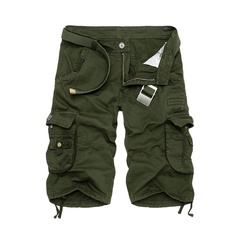 Male Summer Fashion Cargo Shorts Men Casual Camouflage Clothing Cotton Army Work Shorts 5 Colors