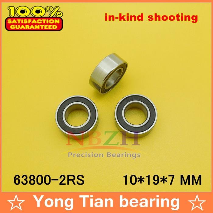 1PC High quality ABEC-1 Z2V2 EMQ 63800-2RS L-1910VV  10*19*7 mm High quality mini deep groove ball bearing gcr15 6326 zz or 6326 2rs 130x280x58mm high precision deep groove ball bearings abec 1 p0
