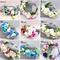 Bridesmaid Flower wedding Wreath Artificial Flower Head Wreath Floral headband Hair accessories Flower Headpiece Flower crown